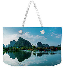 The Karst Mountains And River Scenery Weekender Tote Bag