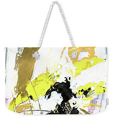 Weekender Tote Bag featuring the painting Three Color Palette by Michal Mitak Mahgerefteh