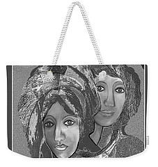 Weekender Tote Bag featuring the digital art 1667 - The Sisters by Irmgard Schoendorf Welch