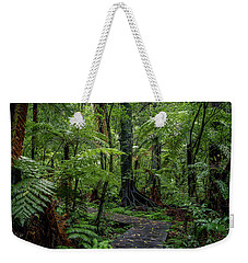 Weekender Tote Bag featuring the photograph Forest Boardwalk by Les Cunliffe
