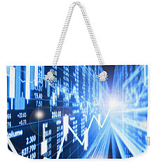 Weekender Tote Bag featuring the photograph Stock Market Concept by Setsiri Silapasuwanchai
