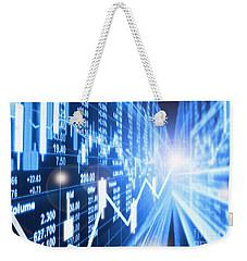 Weekender Tote Bag featuring the photograph Stock Market Concept by Setsiri Silapasuwanchai
