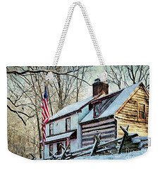 1700's Log House In West Chester, Pa Weekender Tote Bag