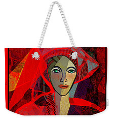 1791 - Lady In Red 2017 Weekender Tote Bag by Irmgard Schoendorf Welch
