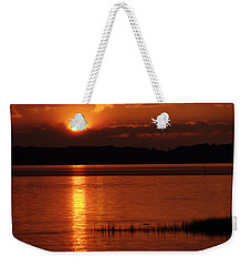 Weekender Tote Bag featuring the photograph 17th Street Sunset by Greg Graham