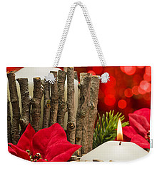 Weekender Tote Bag featuring the photograph Autumn Candles by Ulrich Schade