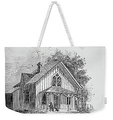 19 Century Farmhouse With Dog On Front Poarch Weekender Tote Bag