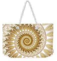 Weekender Tote Bag featuring the digital art 18 Karat by Lea Wiggins