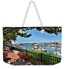Weekender Tote Bag featuring the photograph 1812 Memorial Park - Lewes Delaware by Brendan Reals
