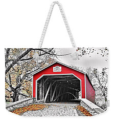 Weekender Tote Bag featuring the photograph 1839 Kreidersville Bridge by DJ Florek