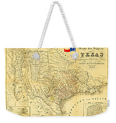 1849 Texas Map Weekender Tote Bag by Bill Cannon