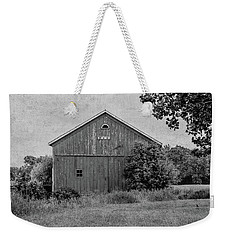 Weekender Tote Bag featuring the photograph 1869 Black And White by Kim Hojnacki