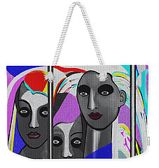 Weekender Tote Bag featuring the digital art 1875 - To Walk Tall by Irmgard Schoendorf Welch