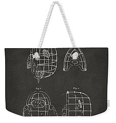 1878 Baseball Catchers Mask Patent - Gray Weekender Tote Bag