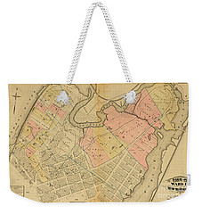 Weekender Tote Bag featuring the photograph 1879 Inwood Map  by Cole Thompson