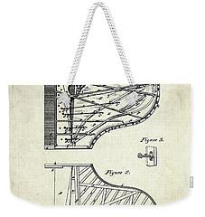 1880 Steinway Piano Forte Patent Art Sheet 1  Weekender Tote Bag by Gary Bodnar