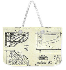 1880 Steinway Piano Forte Patent Art Sheets V2 Weekender Tote Bag by Gary Bodnar