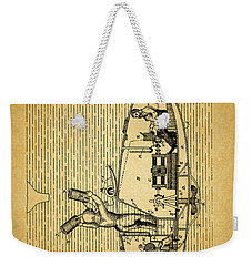 1884 Submarine Ship Patent Weekender Tote Bag by Dan Sproul