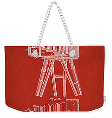 1885 Camera Us Patent Invention Drawing - Red Weekender Tote Bag