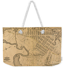 Weekender Tote Bag featuring the photograph 1885 Inwood Map  by Cole Thompson