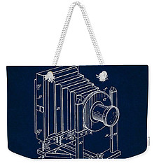 1888 Camera Us Patent Invention Drawing - Dark Blue Weekender Tote Bag