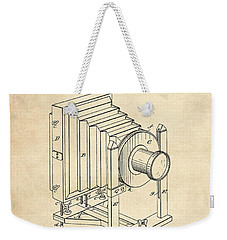 1888 Camera Us Patent Invention Drawing - Vintage Tan Weekender Tote Bag