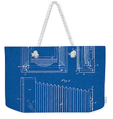 1891 Camera Us Patent Invention Drawing - Blueprint Weekender Tote Bag