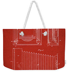 1891 Camera Us Patent Invention Drawing - Red Weekender Tote Bag