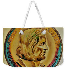 1892 Columbian Exposition Half Dollar Ms-70 Tonned Weekender Tote Bag