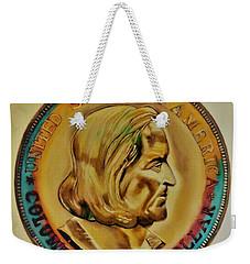 1892 Columbian Exposition Half Dollar Ms-70 Tonned Weekender Tote Bag