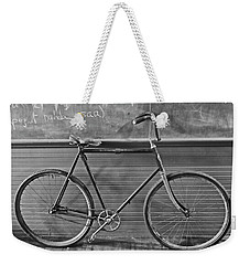 Weekender Tote Bag featuring the photograph 1895 Bicycle by Joan Reese