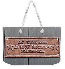 1897 Weekender Tote Bag