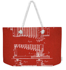 1897 Camera Us Patent Invention Drawing - Red Weekender Tote Bag