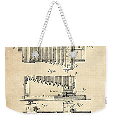 1897 Camera Us Patent Invention Drawing - Vintage Tan Weekender Tote Bag