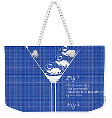 1897 Dirty Martini Blueprint Weekender Tote Bag by Jon Neidert
