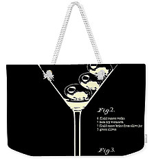 1897 Dirty Martini Patent Weekender Tote Bag by Jon Neidert