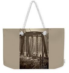 1898 Trestle In Sepia Weekender Tote Bag