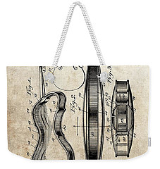 1899 Violin Patent Illustration Weekender Tote Bag by Dan Sproul