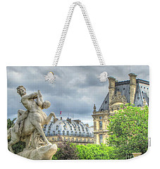 Weekender Tote Bag featuring the pyrography Paris by Yury Bashkin