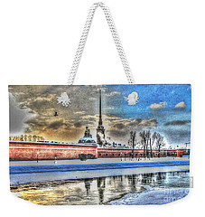 Weekender Tote Bag featuring the pyrography Peterburg by Yury Bashkin