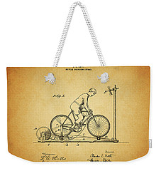 1900 Bicycle Exercise Stand Weekender Tote Bag by Dan Sproul