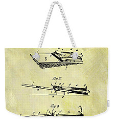 Weekender Tote Bag featuring the mixed media 1903 Mouse Trap Patent by Dan Sproul