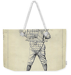 1904 Baseball Catcher Patent Weekender Tote Bag