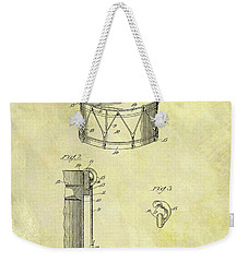 1905 Drum Patent Weekender Tote Bag by Dan Sproul