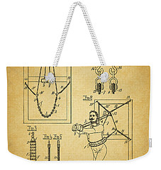 1905 Exercise Apparatus Patent Weekender Tote Bag by Dan Sproul