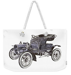 Weekender Tote Bag featuring the drawing 1906 Knox Model F 3 Surry by Jack Pumphrey