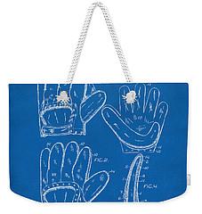 1910 Baseball Glove Patent Artwork Blueprint Weekender Tote Bag