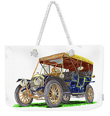 Weekender Tote Bag featuring the painting 1910 Knox Model R 5 Passenger  Touring Automobile by Jack Pumphrey