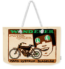 1910 Wanderer Motorcycle Weekender Tote Bag by Historic Image