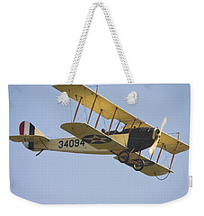 1917 Curtiss Jn-4d Jenny Flying Canvas Photo Poster Print Weekender Tote Bag by Keith Webber Jr